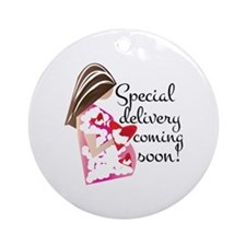 Special Delivery Round Ornament