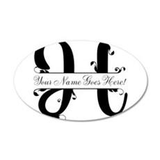 Monogram H Wall Decal