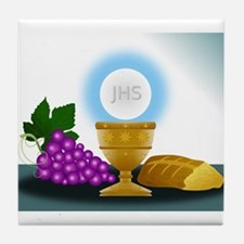 eucharist Tile Coaster