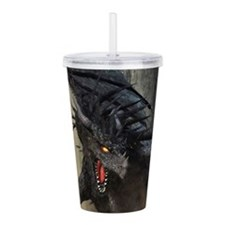 Black Dragon Acrylic Double-wall Tumbler