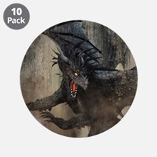"Black Dragon 3.5"" Button (10 pack)"