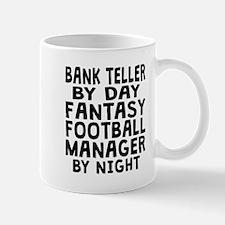 Bank Teller Fantasy Football Manager Mugs