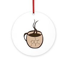 Caffeine Cup Ornament (Round)