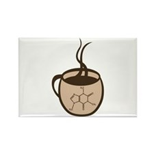 Caffeine Cup Rectangle Magnet