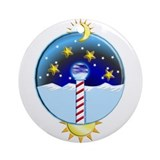 Blue moon ornament Round Ornaments