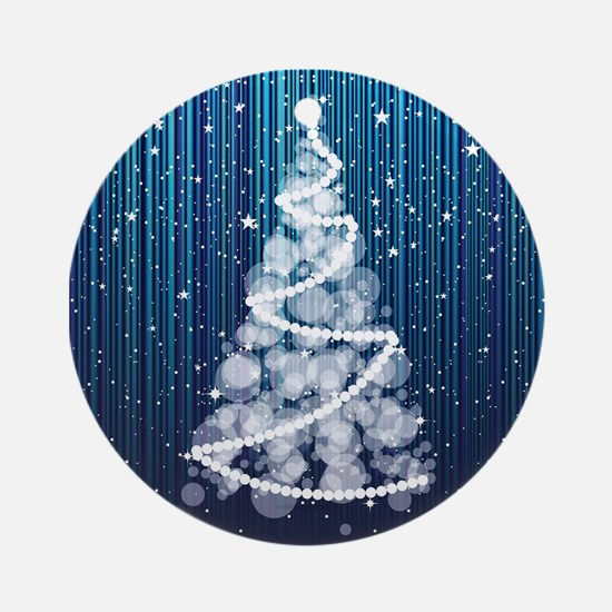SPARKLING TREE Round Ornament