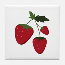 Strawberries Tile Coaster