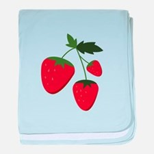 Strawberries baby blanket