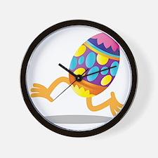 Easter Egg running Wall Clock