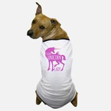 Crazy Unicorn Lady (in pink) Dog T-Shirt