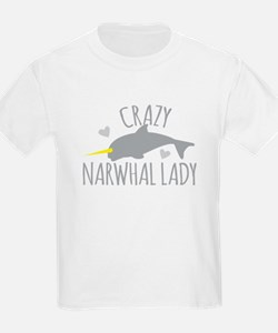 Crazy NARWHAL Lady T-Shirt