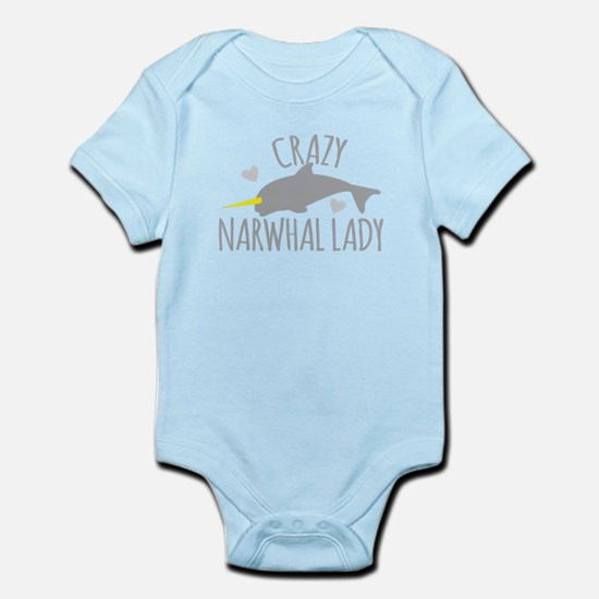 Crazy NARWHAL Lady Body Suit