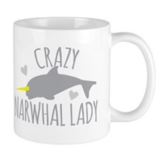 Crazy NARWHAL Lady Mugs