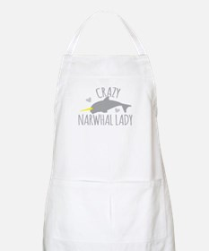 Crazy NARWHAL Lady Apron