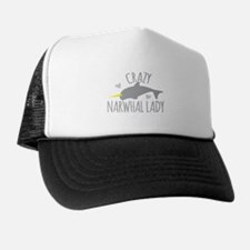 Crazy NARWHAL Lady Trucker Hat