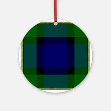 Gordon Scottish Tartan Round Ornament