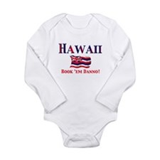 Cute Hawaiian Long Sleeve Infant Bodysuit