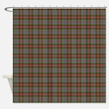 Gray Scottish Tartan Shower Curtain
