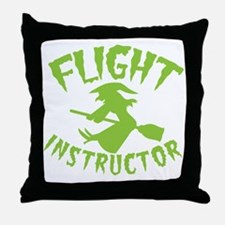 Flight instructor wickedy witch on a Throw Pillow