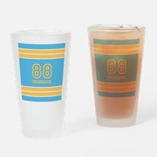 Yellow and Sky Blue Stripes Persona Drinking Glass