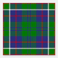 """Hunter Scottish Tartan Square Car Magnet 3"""" x 3"""""""