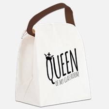 Queen of My Classroom Canvas Lunch Bag