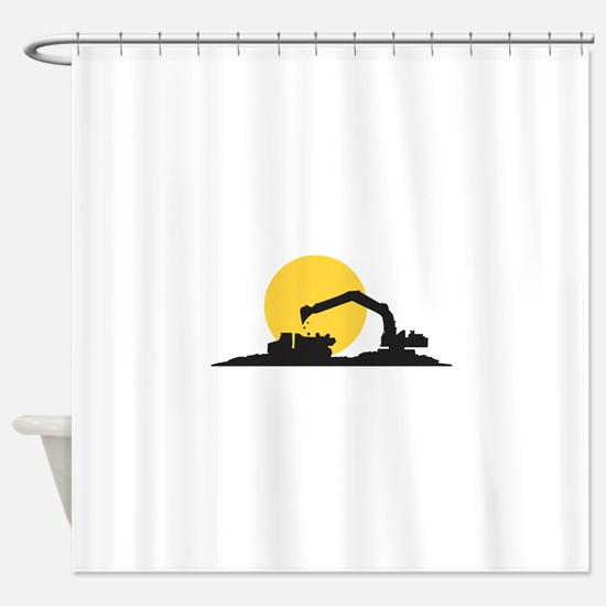 Construction Site Shower Curtain