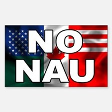 No North American Union Rectangle Decal