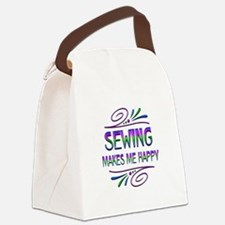 Sewing Makes Me Happy Canvas Lunch Bag