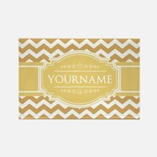 Butterscotch Gold Chevron Persona Rectangle Magnet