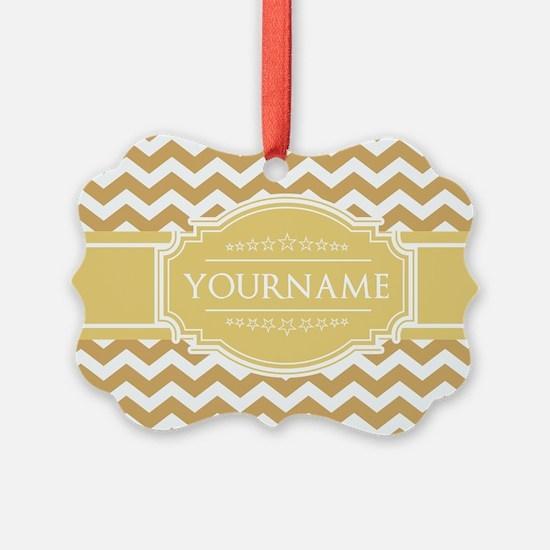 Butterscotch Gold Chevron Persona Ornament
