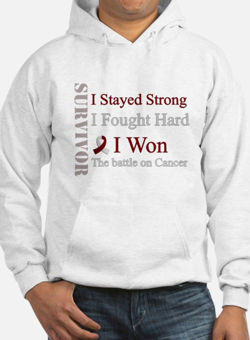 Survivor I won! Head and neck cancer (Red and whit