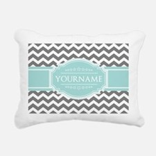 Grey & White Zigzag Cust Rectangular Canvas Pillow