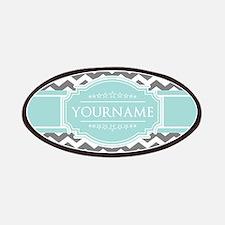Grey & White Zigzag Custom Monogram Patch