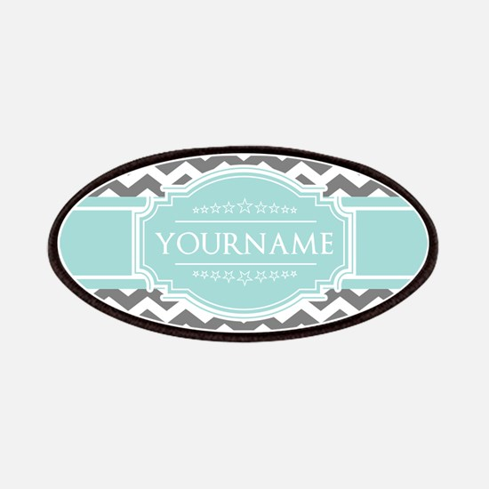 Grey & White Zigzag Custom Monogram Patch
