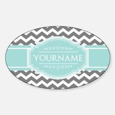 Grey & White Zigzag Custom Monogram Decal
