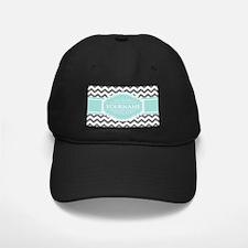 Grey & White Zigzag Custom Monogram Baseball Hat