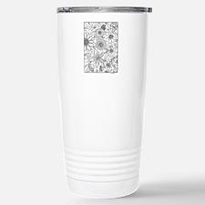 Flower Field Coloring Design Travel Mug