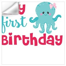 1st birthday octopus Wall Decal