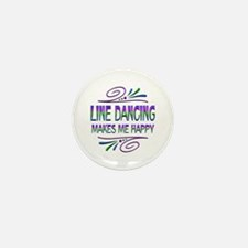 Line Dancing Makes Me Happy Mini Button (10 pack)