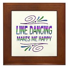 Line Dancing Makes Me Happy Framed Tile