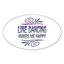 Line Dancing Makes Me Happy Decal