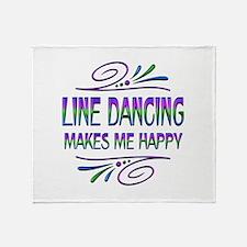 Line Dancing Makes Me Happy Throw Blanket