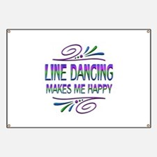 Line Dancing Makes Me Happy Banner