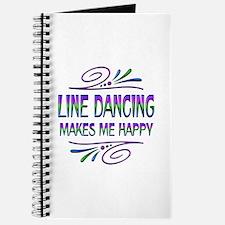 Line Dancing Makes Me Happy Journal