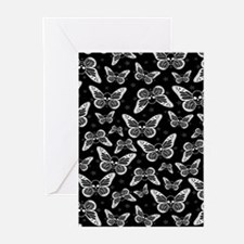 Butterfly Skull Pattern Greeting Cards
