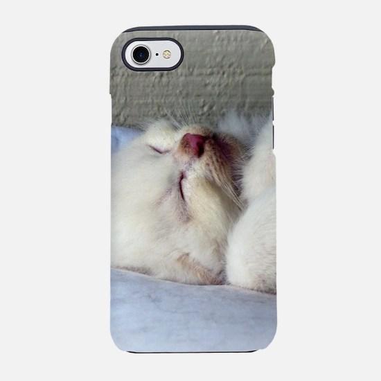 Sleepy Kitten iPhone 8/7 Tough Case