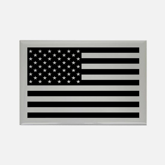 Subdued US Flag Tactical Rectangle Magnet
