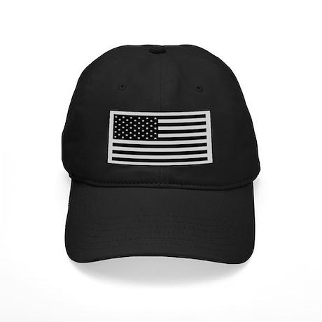 Subdued US Flag Tactical Black Cap