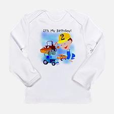Unique Construction theme birthday Long Sleeve Infant T-Shirt